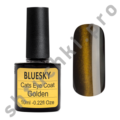 Топ BLUESKY SHELLAC Сat eye (Golden) 10 мл