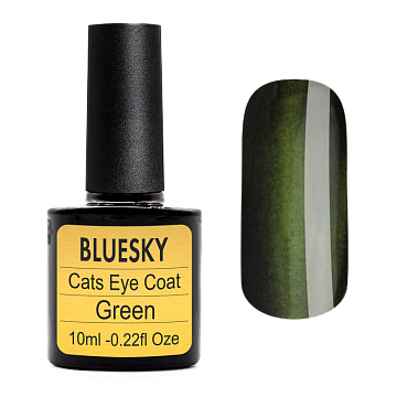 Топ BLUESKY SHELLAC Сat eye (Green) 10 мл